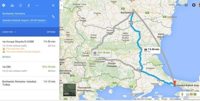 My itinerary from Istanbul to Bucharest