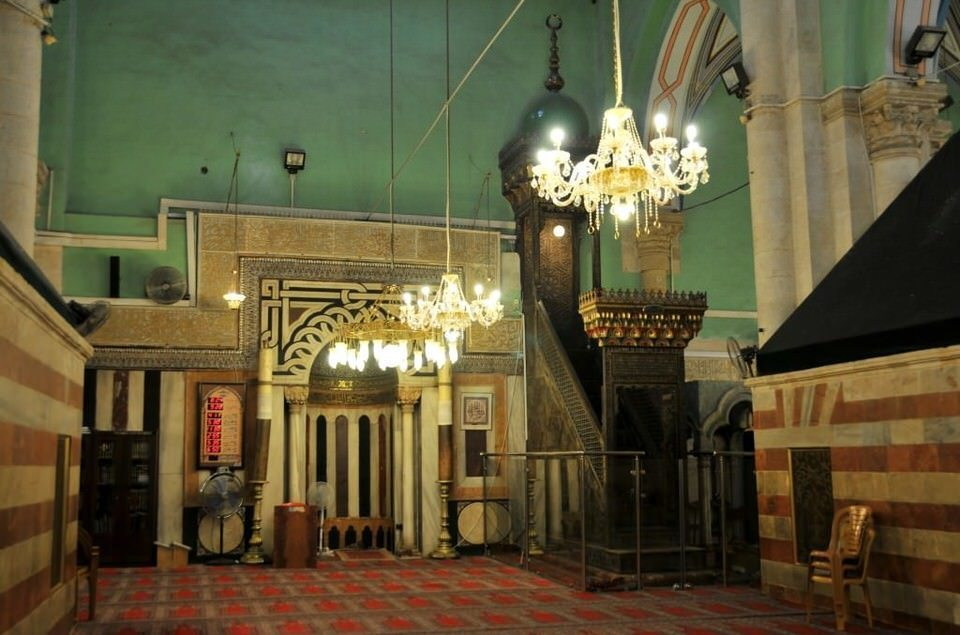 Another view inside the mosque at Hebron, Palestine, Tombs of the Patriarchs