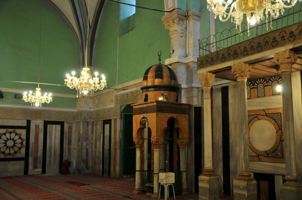 Grace and beauty inside the mosque, Hebron, Palestine, Tombs of the Patriarchs