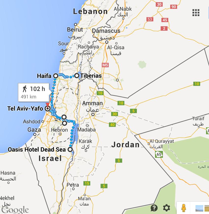 map 2 Israel Itinerary