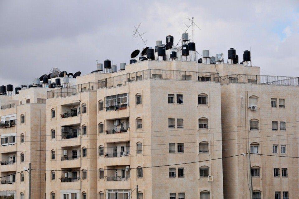Water storage in Ramallah Palestine