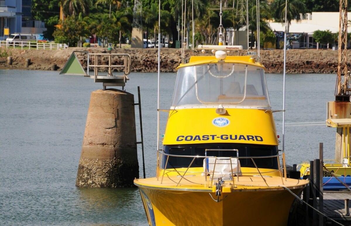 yellow australian coast guard boat