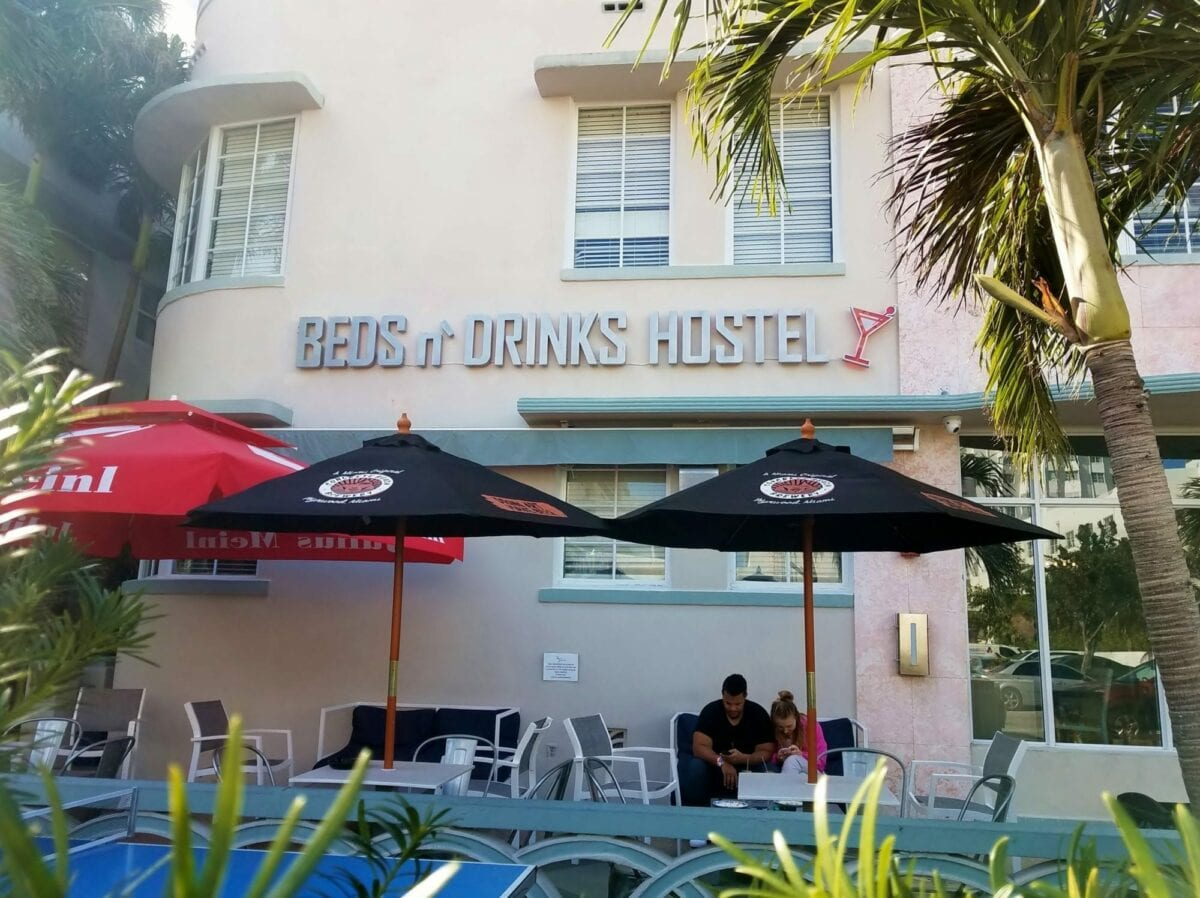 south beach beds and drinks, miami beach,