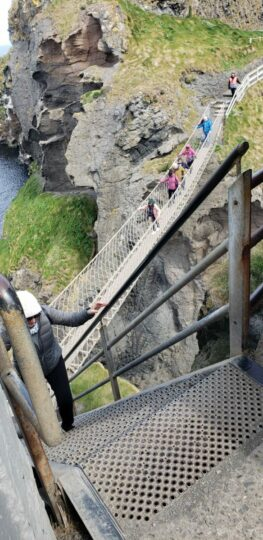 See rope bridge when in belfast Northern Ireland